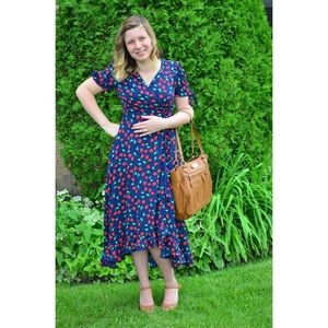 Cherry Print Wrap Dress from Fransesca's